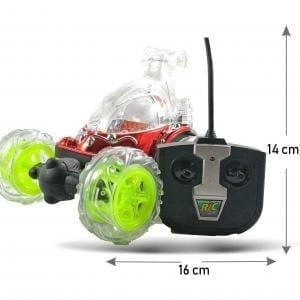Carro Loco a C/R recargable con música, luces y gira 360°