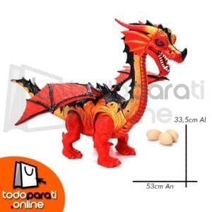 Dragón Rojo Con Movimiento Luz Sonido1