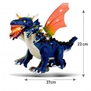 Dinosaurio 5 cabezas con movimiento luz y sonido