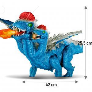 Dragón 3 cabezas con movimiento luz sonido