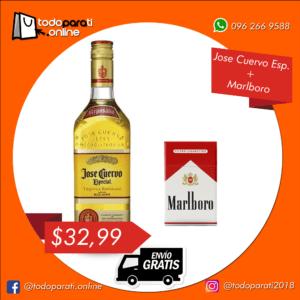 Combo Tequila Jose Cuervo Gold Especial + Cigarrillos