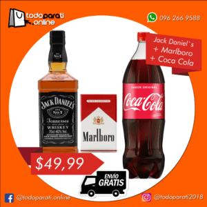 Combo Whisky Jack Daniel´s + Cigarrillos + Coca Cola