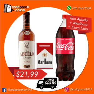 Combo Ron Abuelo Añejo + Cigarrillos + Coca Cola
