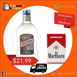 Combo Aguardiente Antioqueño Sin Azúcar + Cigarrillos