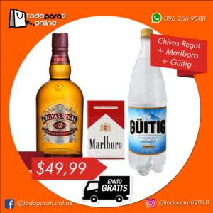 Combo Whisky Chivas Regal 12 años + Cigarrillos + Güitig