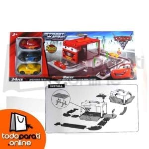 Garage con pista armable 3 Carros cars 3