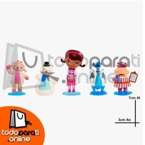 figuras doctora juguetes pvc 5pzs