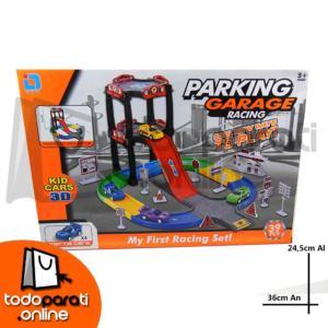 pista parking garage racing