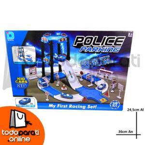 Pista de Carreras con Garage 2 Pisos Police