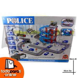 Pista de Carreras 4 pisos Police