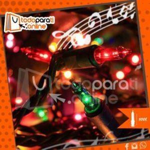 Luces en serie de navidad con melodía 100L
