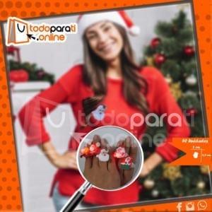 Anillos de navidad, santa claus, regalos