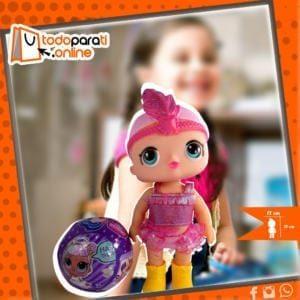 juguetes, niña, esfera, muñeca lol con esfera.